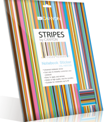 Notebook Sticker Stripes